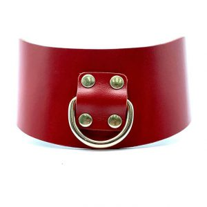 """Curved Collar """"Mona"""" Red"""