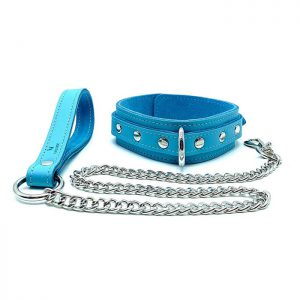 """Collar and Leash """"Vienna"""" Baby Blue"""